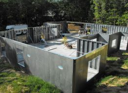 Layout of interior bearing walls begins