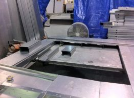 Panel being fabricated in shop